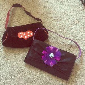 Two little girls purses
